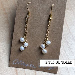 Genuine Freshwater Pearl Dangle Earrings